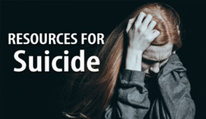 Resources for Suicide