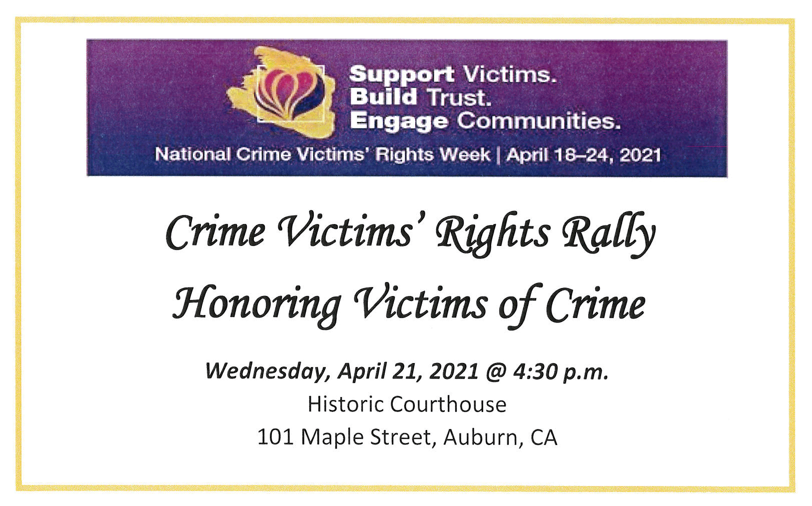 You are currently viewing Crime Victims Rights Rally